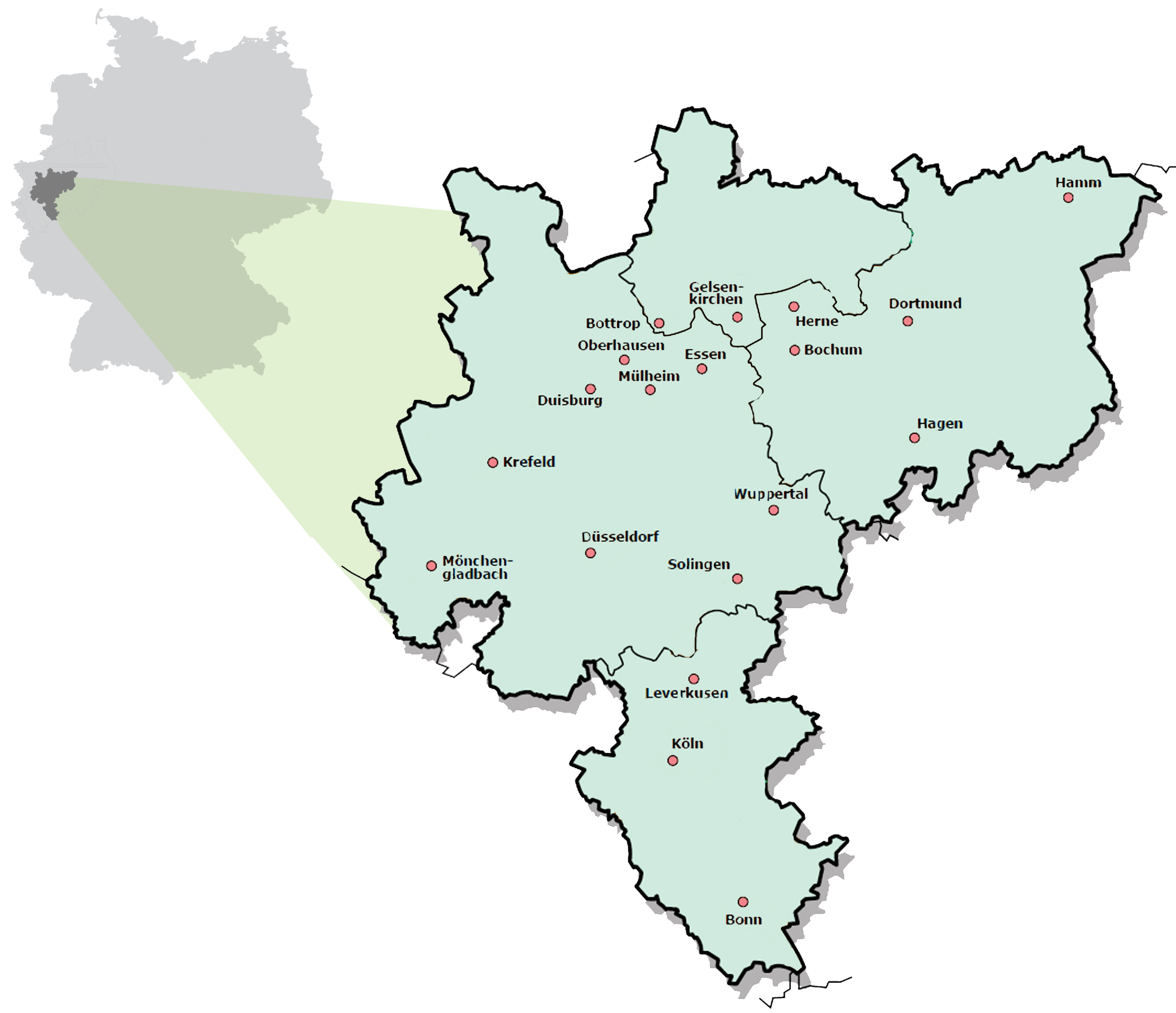 Rhine Ruhr geographies